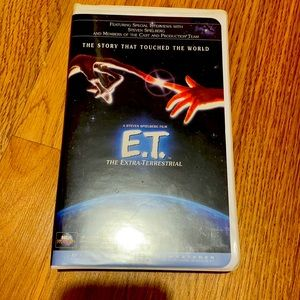VHS tape E.T. The extra-terrestrial